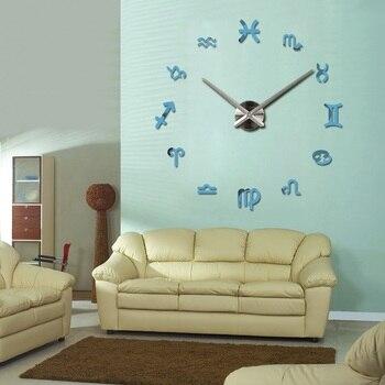 new fashion diy wall clock europe 3d big quartz watch clocks living room large home decorative still life circular stickers 7