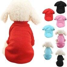 Одежда с капюшоном для собак, Однотонный свитер, толстовка с капюшоном, удобный плюшевый свитер для собак
