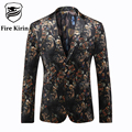 Fire Kirin Blazer Men Suit Jacket 2017 Mens Printed Blazer Latest Coat Design Brand Clothing Classic Men's Fashion Blazers Q212