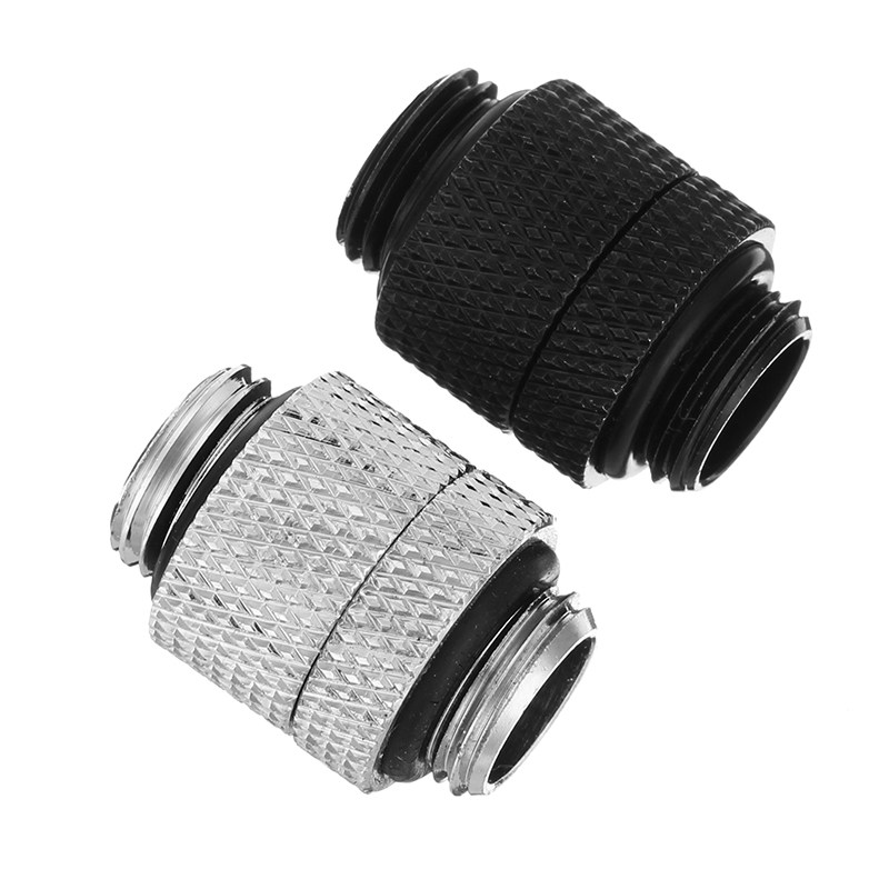 Black Silver G1/4 Rotate Thread Water Cooling Connector Male Water Cooling Fitting Radiator 360 Degree Rotary Fitting Adapter