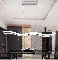 L28 Sperfect Curve Wave Shape 38W LED Modern Pendant Light Luminaire Lamparas Acryl Hanging Lamp For