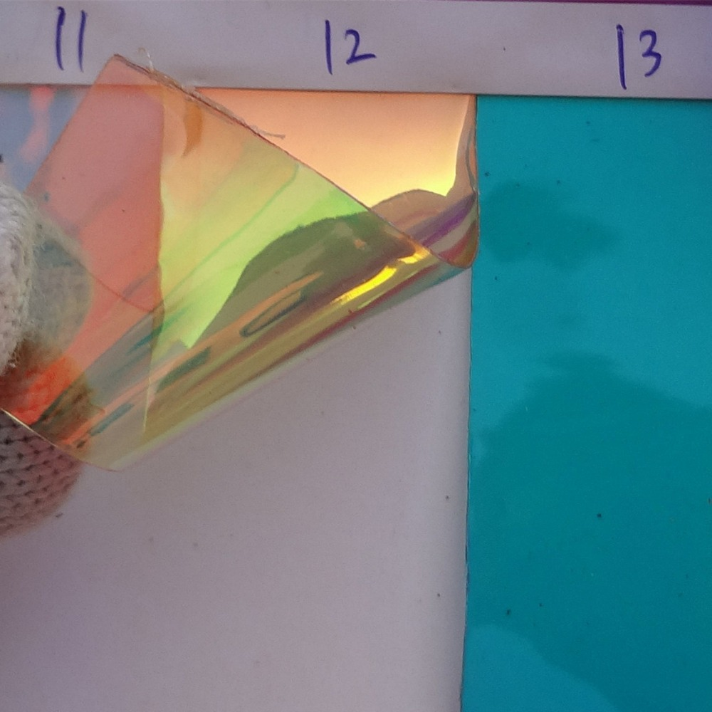 New Laser Transparent Plastic Pvc Colorful Cosmetic Bag