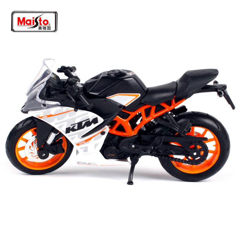 MAISTO 1:18 KTM RC 390 MOTORCYCLE BIKE DIECAST MODEL TOY NEW BOX უფასო გადაზიდვა 14175