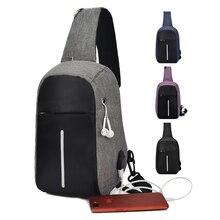 Многофункциональный Crossbody сумки Для мужчин зарядка через usb груди пакет короткой поездки посланники Груди Сумка водоотталкивающая сумка мужской 2019