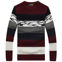 Autumn New Brand Clothing Pullovers O Neck Striped Pattern Sweater Men Casual Fashion Jacket Men A3360