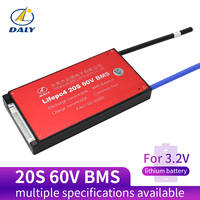 Daly 20S BMS 60V LiFePO4 battery Management System BMS 25A 35A 45A 60A with low current for lithium battery
