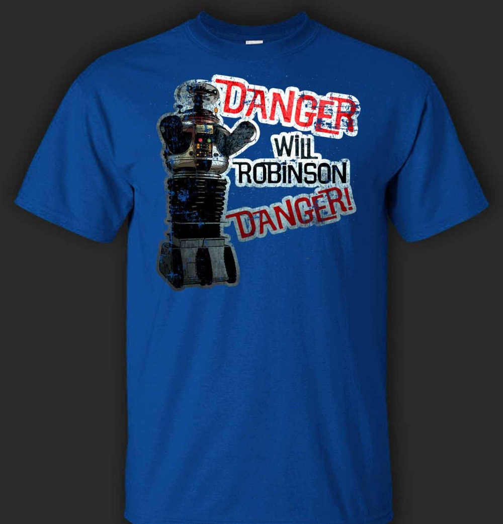 Danger Will Robinson T-Shirt - Direct From Newest 2019 Men T-Shirt Fashion O-Neck T Shirt Brand Men'S Tee Shirts image