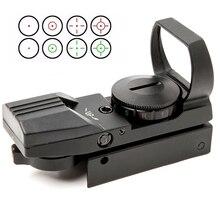 Mira telescópica holográfica de punto rojo, mira Táctica de 4 retículas, visor óptico de colimador para caza, óptica Airsoft, 20mm