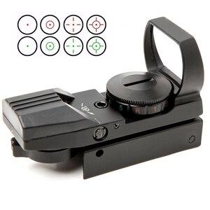 Image 1 - Riflescope 20mm רכבת הולוגרפי אדום Dot Sight 4 Reticle טקטי היקף Collimator האופטי sight ציד Airsoft אופטיקה