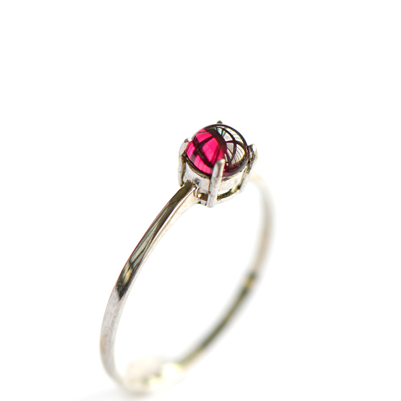 L & P mode à la mode naturel grenat réglable anneaux pour les femmes, 925 bague en argent Sterling nouvelle mode Vintage bijoux fins-in Anneaux from Bijoux et Accessoires    1
