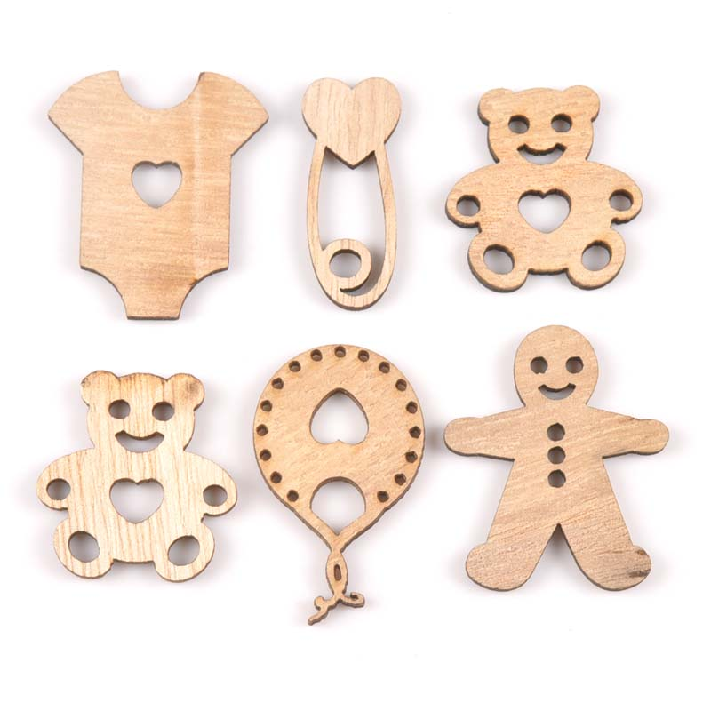Baby bear/clothes/pin/balloon Natural Wooden Scrapbooking Diy Craft for decoration ornament handicrafts 15pcs MT1846Baby bear/clothes/pin/balloon Natural Wooden Scrapbooking Diy Craft for decoration ornament handicrafts 15pcs MT1846
