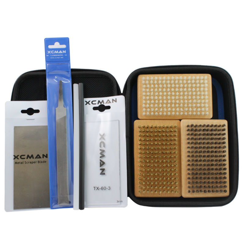 XCMAN Oxford Fabric 1680D Ski Snowboard Waxing Brush And Tuning Kit With Storge Bag For Travling And Storge Pouch Zipper STK-1