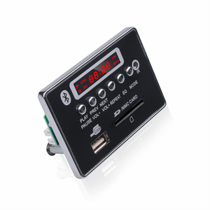 Image 3 - kebidu Wireless Car USB MP3 Player Integrated Bluetooth Hands free MP3 Decoder Board Module with Remote Control USB Aux Radio