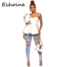 Echoine Jeans Woman Длинные брюки с высокой талией с полым вырезом Skinny Cowboy Woman Plus Размер 2