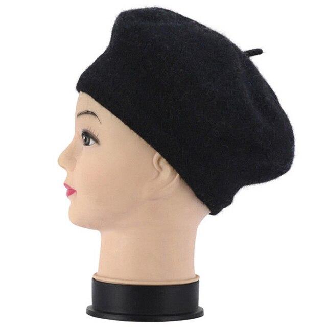 Wool Beret Winter Hats Flat...