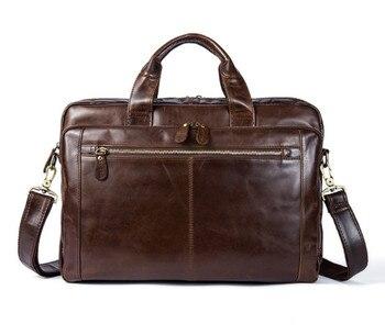 Men's Genuine Leather Briefcase man bags Messenger Bag male Shoulder Bags Leather Laptop Bag men for document  Messenger Bag Briefcases