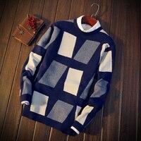 Зимние мужские корейские трикотажные тонкие пуловеры с длинными рукавами модные свитера для подростков нижнее белье и нитки рубашки
