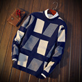 Winter Men's Korean Long Sleeve Knitted Shirt Pullovers Fashionable Teenager Sweaters Underwear and Thread Shirts