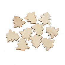 100pcs Woody Tree Wood Craft Embellishments MDF Wooden Cutout Flatback Scrapbooking for Cardmaking DIY Wedding Decoration(China)