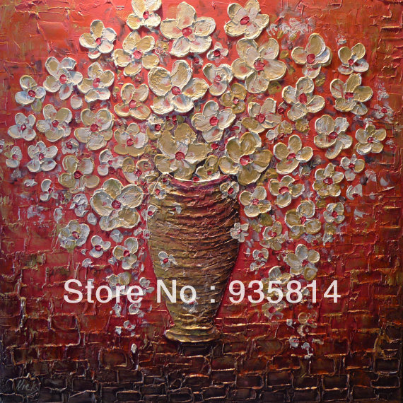 Large Modern square painting Abstract thick Textured Oil and Acrylic