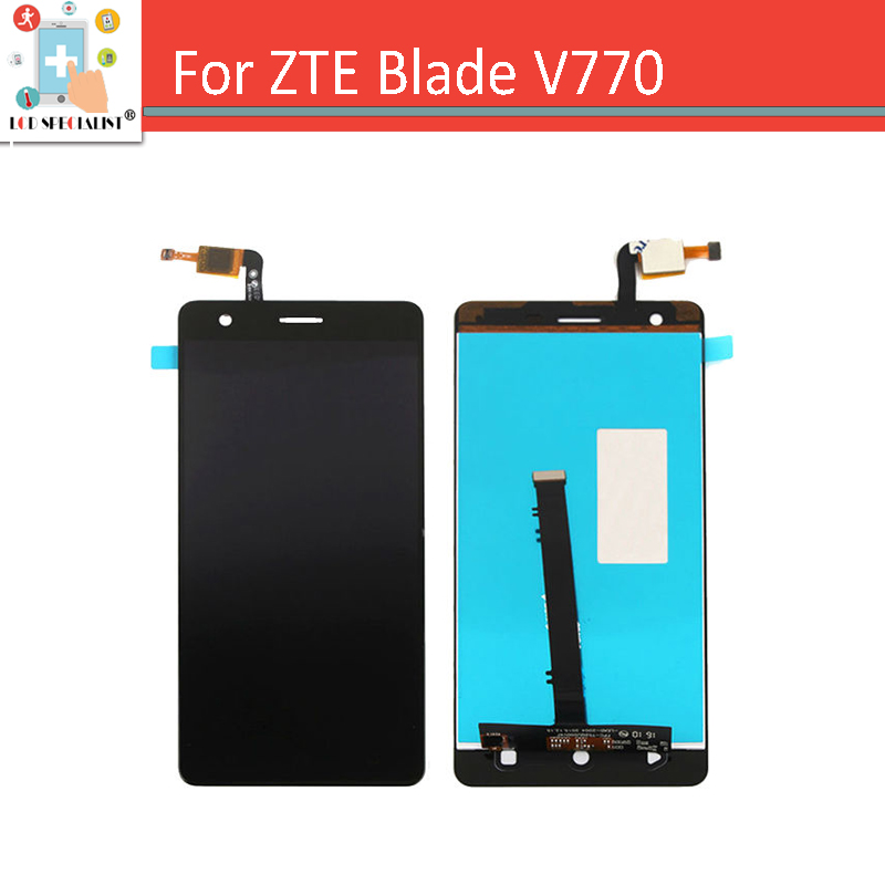 ФОТО Black for ZTE Blade V770 Touch Screen Digitizer Sensor with LCD Display Panel Full Assembly Replacement Parts