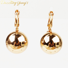 DAZZLING YANG'S New Style Party Gift 18k Gold Plated Shining Gold Seashell Pearl Drop Earrings Jewelry For Women Wholesale