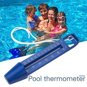 Termómetro de bolsillo para piscina o Spa, termómetro para piscina con pantalla de temperatura azul Jumbo fácil de leer