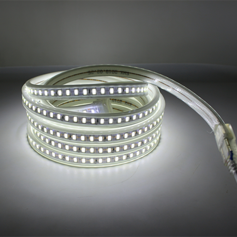 AC DC 220V <font><b>LED</b></font> <font><b>Strip</b></font> Light 5730 LEDStrip AC <font><b>Led</b></font> <font><b>Strip</b></font> 220V Tape Light 5M <font><b>Waterproof</b></font> Kitchen Outdoor <font><b>White</b></font> Warm Lamp Home Decor image