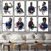 Cartel impresiones mete Lillo PSG Francia Campeón del Mundo de Super fútbol  deporte azul estrellas 585e951a2e605