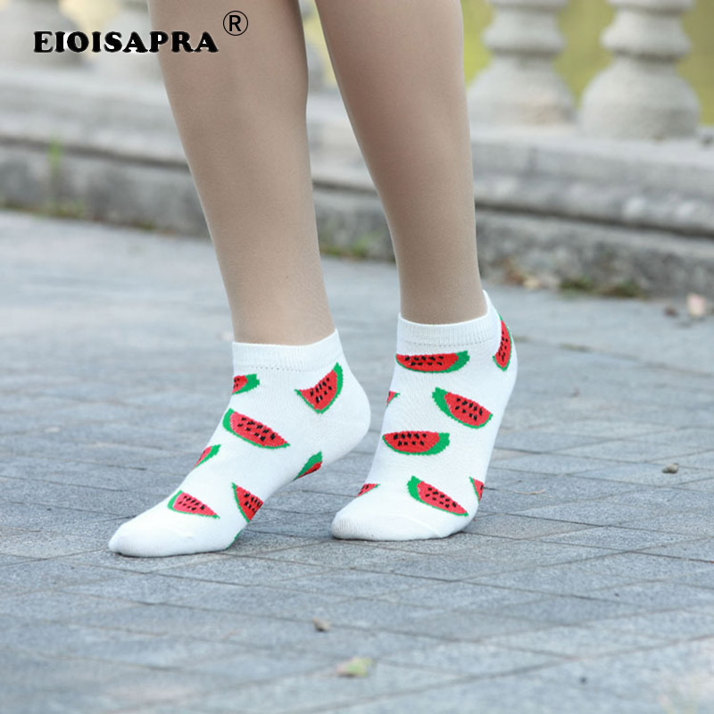 [EIOISAPRA]Casual Fruit Watermelon Strawberry Cherry Short   Socks   Personality Fashion Comfort Fruit   Socks   Women