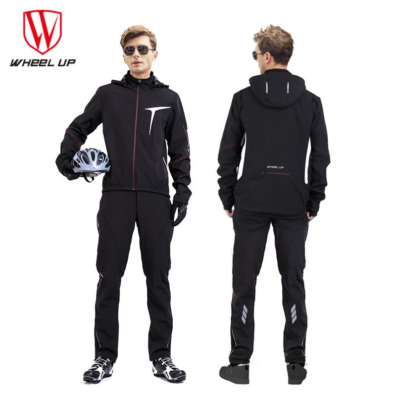 WHEEL UP Pro Cycling Clothing Man Jersey Set Thermal Fleece Cycling Clothes Suit Bike Bicycle Sportswear