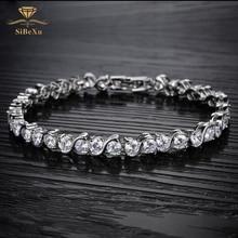 New Fashion Bracelet Woman With Swarovski Element Crystal Wristband Gifts Jewelry Roman Fantastic Wristlet Trinket Pendant