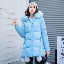 27f66e3b9924 Original Women Parkas Winter Coat Fur Collar Jacket Female Warm Outwear  thick Cotton Jacket Long Coat