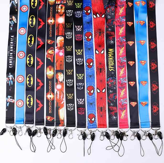 1 sztuk cartoon avengers smycz do kluczy odznaka identyfikatory posiadacze paski na szyję z brelok prezenty Party dobrodziejstw