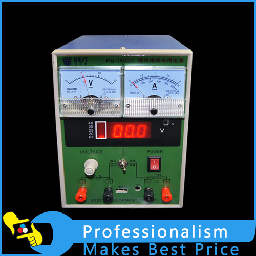 220V 0-15V 0-2A BEST 1502T DC power supply machine voltage testing equipment for phone repairing power supply tester for voltage pg testing