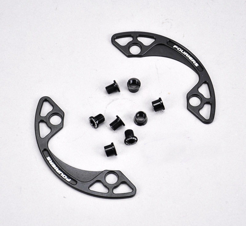 1pc CNC Alloy Fouriers MTB bike bicycle Chain Bash Guard Mount Chainring Guide 30-40T P.C.D 104mm