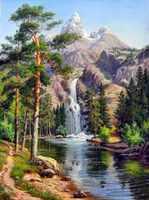 Needlework, Mountain cascata Paesaggio di bellezza FAI DA TE DMC 14CT punto Croce, per il kit di Ricamo, arte Set punto Croce fatti a mano decorazione