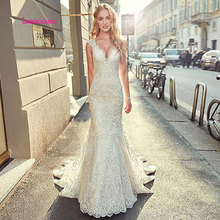 LEIYINXIANG Luxury 2019 Wedding Dresses Sleeveless V-Neck
