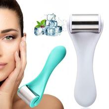 цена на Facial Massager Beauty Instrument Stainless Steel Ice Roller Lift Firming Face Relief Fatigue Skin Care Face Ice Roller Massager