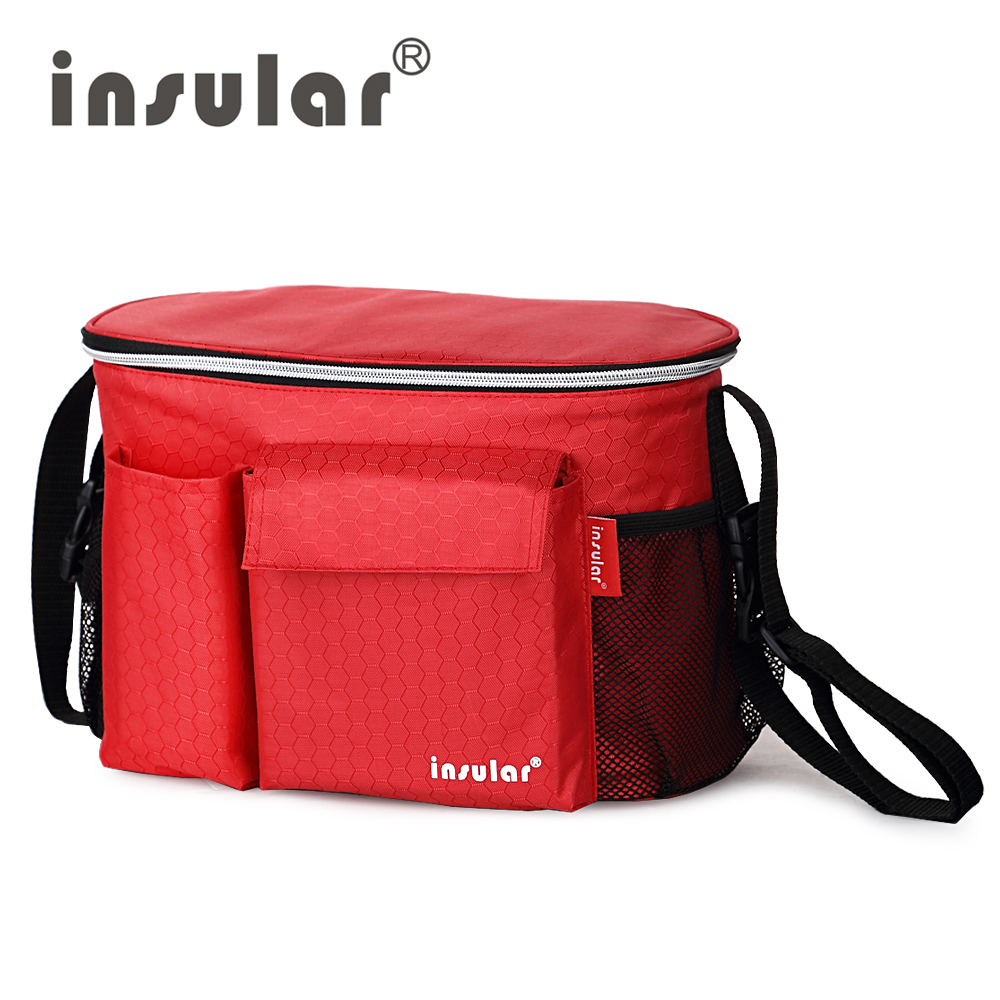 Insular Thermal Bag Insulation Baby Diaper For Strollers Waterproof Nappy Changing Mommy Traveler Tote