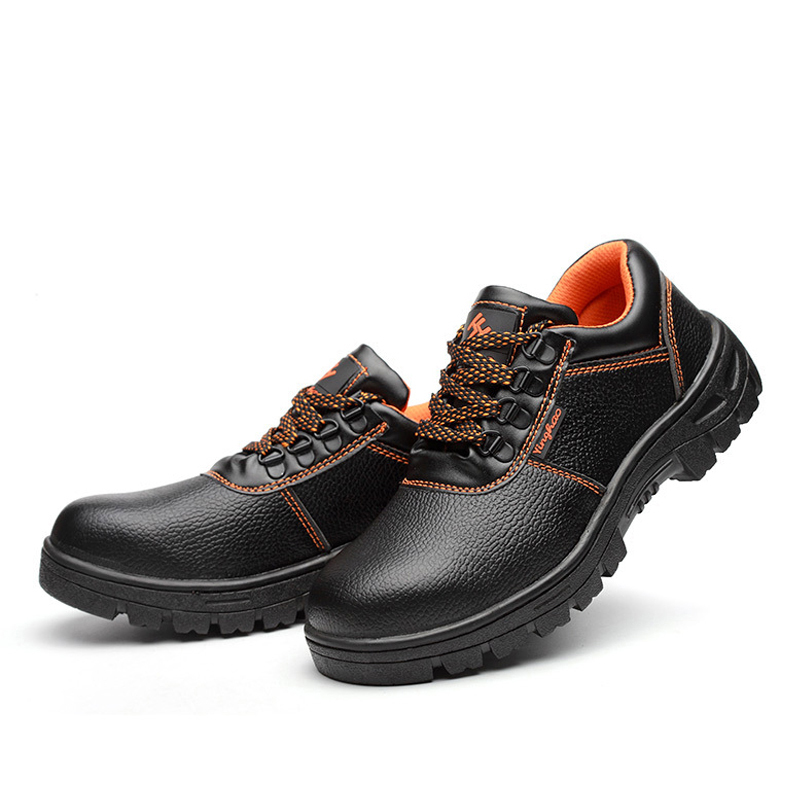 AC13007 New Low Upper Black Safety Men Shoes All Terrain Steel Toe PU Leather Work Shoes Light Weight And Comfortable Acecare in Safety Shoe Boots from Security Protection