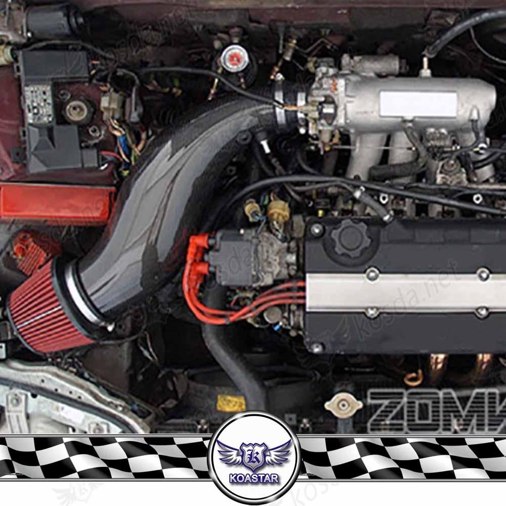 JDM Intake Hose Real Carbon Fiber Air Intake Pipe For Honda Civic 92 00 EG EK With Air Filter ...