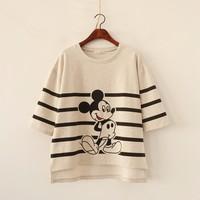 Merry Pretty Harajuku T Shirt Women New Fashion Summer Style Loose Mickey Cotton T Shirt Plus