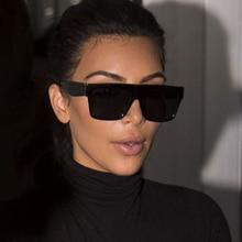 Fashion Vintage Brand Designer Lady Big Square Sunglasses Wo