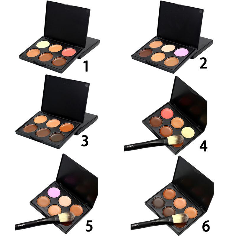 6 Colors Women Concealer Face Primer Cream Contour Palette Make Up Facial Contouring Palette Makeup cosmetics sets