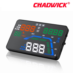 Image 3 - Universel Multi couleur Auto voiture HUD GPS affichage tête haute compteurs de vitesse avertissement de survitesse tableau de bord pare brise projecteur CHADWICK Q7