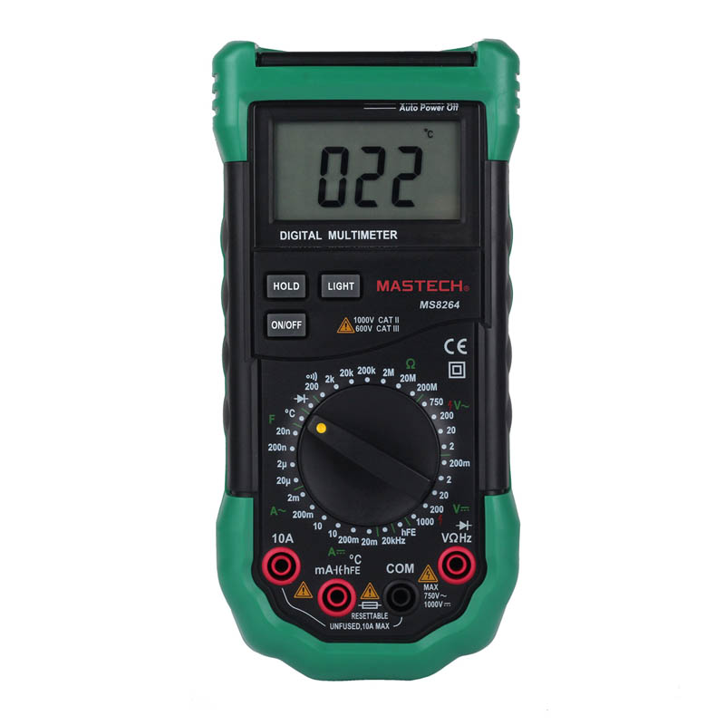 MASTECH Digital Multimeter MS8264 Capacitance Frequency Temperature Meter Multimetro Multitester Protection Circuit Anti-Burn my68 handheld auto range digital multimeter dmm w capacitance frequency