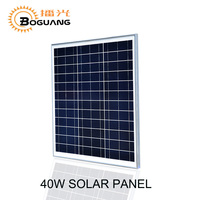 Boguang 1pcs 18v 40w Polycrystalline Silicon Glass Solar Panel Module Kit Cell For 12v Battery LED