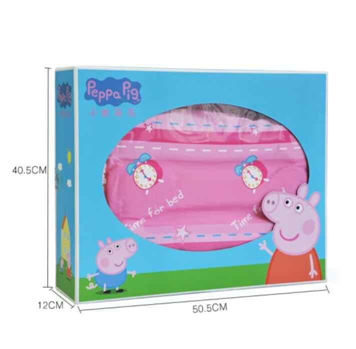 Genuine Peppa Pig Time For Bed Lamb Cashmere 150cm Quilt 42cm Pillow Suit Cartoon Warm Plush Quilt For Autumn Winter Kids Toy