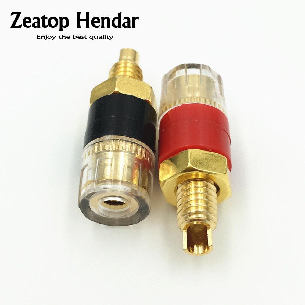 20Pcs Brass Binding Post Banana Plug For Speaker Amplifier